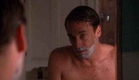 mad men shaving