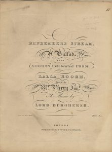 Bendemeer's Stream Burghersh Title page