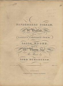 Bendemeer's Stream Burghersh Title page