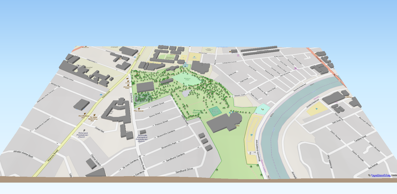 Image created from open spatial data and methods by Lorraine Barry, GIS, QUB
