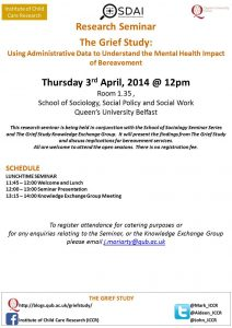 GRIEF STUDY Research Seminar April 2014 Flyer
