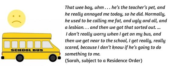 Sarah's views on bullying