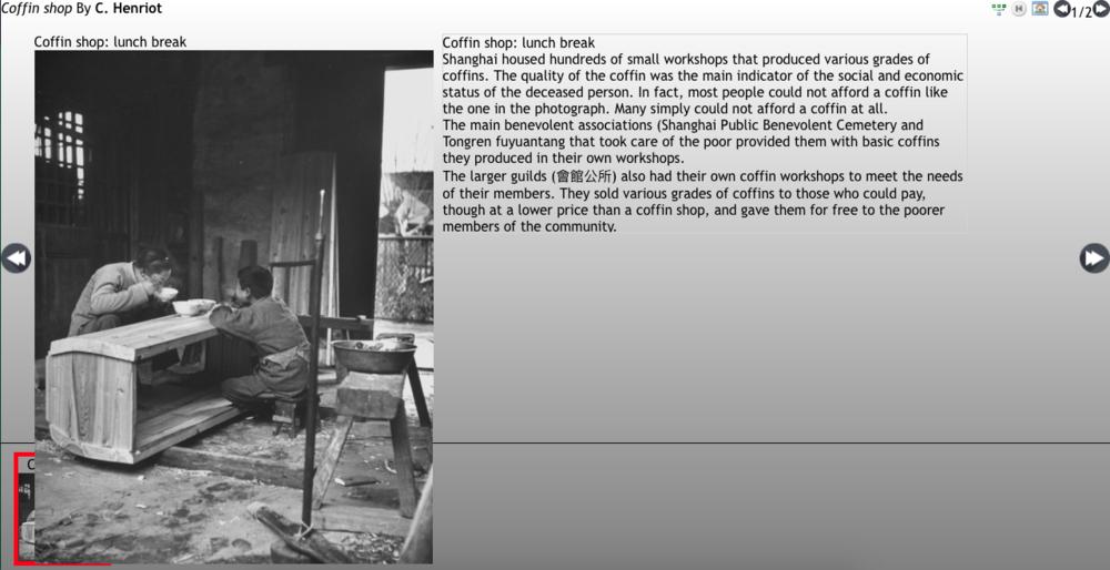 Henriot's visual narrative available on www.virtualshanghai.net