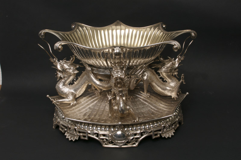 The Hart epergne (Goldsmiths' & Silversmiths' Co., 1888), Queen's University Belfast
