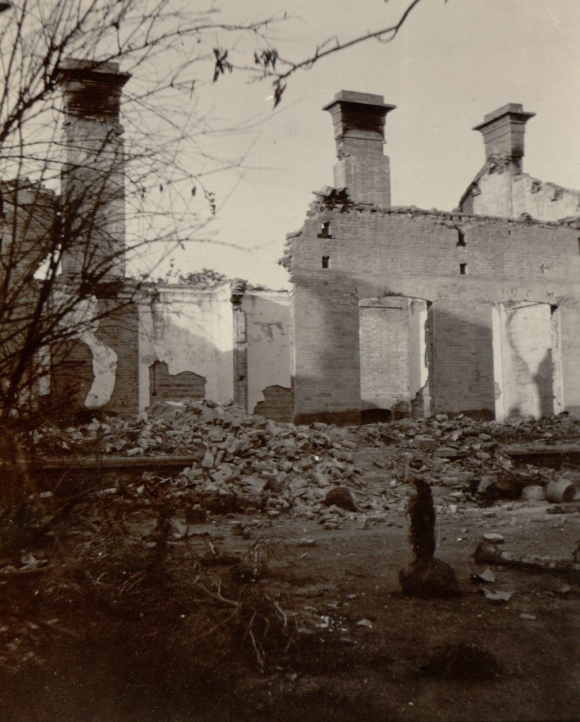 Hart's house was destroyed during the Beijing Legation Quarter siege. Summer 1900. MS 15/6/6/1.