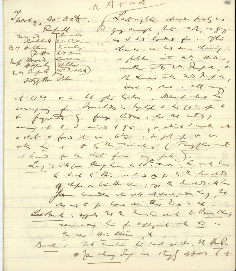 Diary Entry, 12 September 1885 QUB MS 15.1.31.52