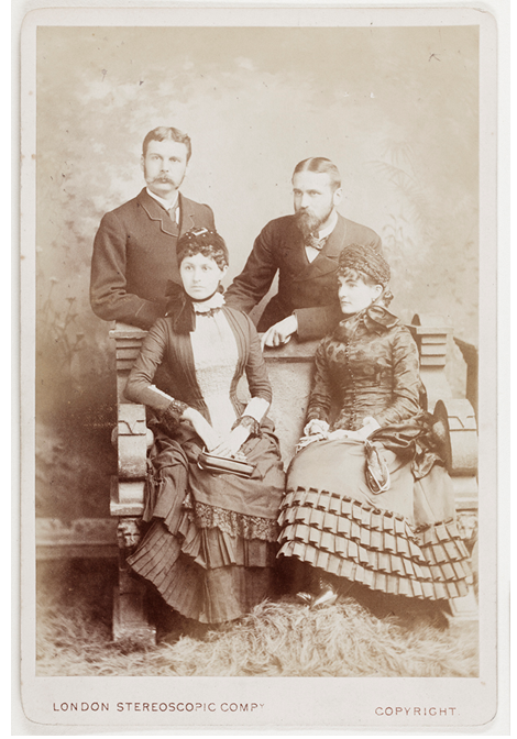 Walter & Clare Hillier (LHS), Harry and his first wife, Annie Hillier (London, 1882) Hillier Collection