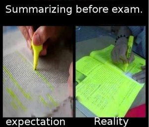 Summarizing-before-an-exam…